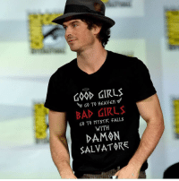 Memes, Girl, and Link: GD GIRL  60 T. MYSTIC FALLS  WITH  DAMON  SALVATOKE TAG WHO NEEDS THIS SHIRT 😁❤️ Buy this shirt 🔥 Link in BIO 😍