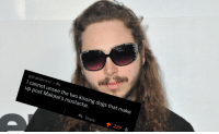 I cant unsee it now: gdcalderon2 4h  I cannot unsee the two kissing dogs that make  up post Malone's mustache.  Reply  229 I cant unsee it now