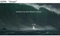 My Inbox: GDPR: *drops*  UPDATES TO OUR PRIVACY POLICY  my inbox