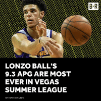 Lonzo can Ball.: GE  LONZO BALL'S  9.3 APG ARE MOST  EVER IN VEGAS  SUMMER LEAGUE  HIT ESPN STATS& INFO Lonzo can Ball.