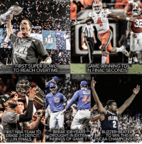 Memes, Ncaa, and Bowl Games: GecB$Sports  2 17  FIRST SUPER BOWL  GAME-WINNING TD  TO REACH OVERTIME  IN FINAL SECONDS  FIRST NBA TEAM TO  BREAK 108-YEAR  BUZZER-BEATER  DROUGHT IN EXTRA  TO WIN THE  ERASE 3-1 DEFICIT  MA INNINGS OF GAME 7 NCAA CHAMPIONSHIP  IN FINALS Can we all come together and agree that sports are amazing?