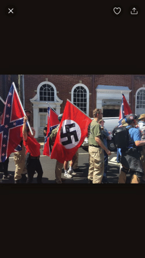 "Confederate Flag, Funny, and Lol: gedddylee:  trashythingsgohere:  White supremacist rally in Charlottesville VA  funny how southerners will say that the confederate flag is part of ""southern history"" and they say it isn't racist yet actual white supremacists parade it around white supremacy rallies lol"