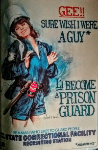 """Raymond G Karter National Lampoon 1974: GEE!!  A SURE WISHIWERE  AGUY  BECOME  APRISON  GUARD  NTATE FACILITY  RECRUITING STATION  411""""  ANDOVER Raymond G Karter National Lampoon 1974"""