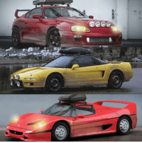 Ferrari, Honda, and Memes: GEE  in  豸 Who else needs a winter beater? ❄️❄️❄️ toyota supra honda nsx ferrari f50 winterbeater carthrottle photoshop