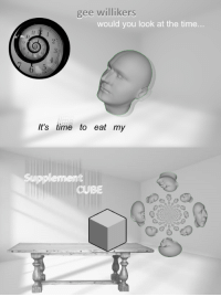 "Reddit, Time, and Com: gee willikers  would you look at the time...  Il  l0  It's time to eat my  CUBE <p>[<a href=""https://www.reddit.com/r/surrealmemes/comments/7yt3c3/supplement_cube/"">Src</a>]</p>"