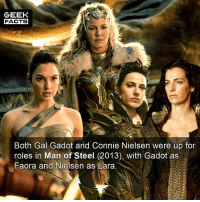 I enjoyed Wonder Woman. However, I think it is a little overrated. List your favorite superhero movies from this year in order. Mine - Logan, GotGVol2, WW and Spidey. -- Must Follow 🎥 - @MovieFacts 🤓 - @GeekFacts 🤔 - @GeekQuote 😎 - @GeekFeedDotCom: GEEK  FACTS  Both Gal Gadot and Connie Nielsen were up for  roles in Man of Steel (2013), with Gadot as  Faora and Nielsen as Lara. I enjoyed Wonder Woman. However, I think it is a little overrated. List your favorite superhero movies from this year in order. Mine - Logan, GotGVol2, WW and Spidey. -- Must Follow 🎥 - @MovieFacts 🤓 - @GeekFacts 🤔 - @GeekQuote 😎 - @GeekFeedDotCom
