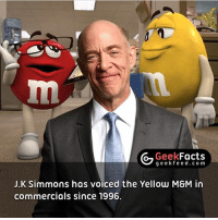 Now the guy is an Oscar winner. We all have to start somewhere. Does anyone think he'll be a better Commissioner Gordon than Gary Oldman? 🤔 Follow @geekfacts @geekquote @geekfeeddotcom: Geek  Facts  g e e k f e e d.co m  J.K Simmons has voiced the Yellow MSM in  commercials since 1996. Now the guy is an Oscar winner. We all have to start somewhere. Does anyone think he'll be a better Commissioner Gordon than Gary Oldman? 🤔 Follow @geekfacts @geekquote @geekfeeddotcom