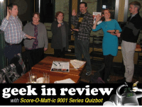 """Score-O-Matt-ic 9001 Series Quizbot's Geek In Review  HUMANS!  We caught this photo of team members swearing each other in at Grand Rapids Brewing Company.  Good Luck, """"Flirting with Disaster 2: Diplomatic Bugaloo - Nationwide Friday"""".  We're counting on you!  Speaking of, the week leading up to the inauguration of the 45th President of the United States left the spigot on for some key team names.  These names were much bigger than any four years ago, though, despite what any actual data tells you.  Oh, and there might be bears, so get those guns ready.    Did you make the cut?  READ ON!  ABOVE AVERAGE TEAM NAMES  A Gun a Day Keeps the Grizzlies Away - McNally's Taproom President Donald Trump Anagrams To Diddle Perm; A P*rn Stunt - Puddler's Hall DeVos Got Whipped, Whipped Good - Burg & Barrel Quizzing Before the Catastrophe - ELBOW ROOM Brown Bear v. Board of Education - Unicorn Are we the first team/to make our name a haiku/you bet your sweet ass - Bumsted's Trump Takes it Up the... But the E-mails! - CHUBurger Betsy DeVos' Center For Kids Who Can't Read Good And Want To Learn To Do Other Stuff Good Too - The Jeanie Johnston Pub & HopCat - Kalamazoo and LOTS OTHERS MLK Stout - Front Range Brewing Company Don't Hold Me Closer, Tiny Handser - Ballard Loft Yes Jerry Jones, Chronic Choking is Covered Under ObamaCare - The Growler Bar  TRULY TASTELESS TEAM NAMES  Ripped from the headlines, and they're gonna leave a mark.  Think about what you've done to end up in THIS pile of names.  Forecast for Tomorrow: Cloudy, with a Chance of Golden Showers - Hugh O'Neill's Swastikuzzins - Darwin's Theory You Can't Spell Trump without a Little P - Brick Oven Pizzeria and Pub Sad to Find Out """"Two Bushes in the Hospital"""" was Not a Porn Link - The Harp Inn Irish Pub  THESE TEAM NAMES BETTER HAVE A MOTORCYCLE  Some fun team names from our Gilmore Girls theme Quiz on Thursday!  You'd better buy them a boa and drive them to Reno, 'cause they're open for business!  Smells Like Fear and C"""