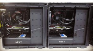 Back, Geforce, and Geforce Gtx: GEFORCE GTX  GEFOREE GTX  NZXT  NZXT. 2 identical builds I did back in 2016. Matching GTX 1070 founders editions as well.