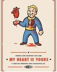 GENERAL ISSUE VALENTINE'S DAY CARD  MY HEART IS YOURS  O ULT TECINDUSTRIES ITEM  174539 20343-101 Happy Valentine's Day I will be doing nothing since I do not have someone special But I hope those of you who do, have a great day with the one you love😀❤️