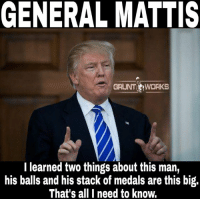 """Commander James Mattis, Department of War.   This man would move mountains to save his men, die a thousand deaths to defend his nation, and that which we truly need in order to be great again.   He is without a doubt a living legend. This is simply non-fucking-negotiable and if you don't agree that tells me all I need to know about your intelligence level.   Mattis is possessed by the immortal spirit of the true warrior, if names like Chesty Puller and General Patton mean nothing to you this only solidifies my belief that you're opinion is COMPLETELY irrelevant. Men like this are an anomaly of life.  Marines jerk off to the whisper of his name and service members from all branches would follow him to the gates of hell. This military has lost hope in its leadership on multiple levels and a man with the call sign """"Chaos"""" is exactly what we need to restore it. We were the most feared fighting force in the world once, thus all your freedoms but today we cling to that legacy as we watch it slip away.  Men like Putin didn't respect our leadership, neither do the other rulers of nations thus their complete disrespect for us over the last decade. The people coming together to lead this nation look like the American Justice League compared to the last cabinet, my dick has seriously been hard for a week straight.   Our borders are unsecure and a savage enemy is salivating at how weak we have become.   He is the role model the men of today need, he is what America needs.   General Mattis, James Mattis, Chaos, Warrior Monk, Mad Dog Mattis…whatever you call him he needs to be SECDEF2016  Droz: GENERAL MATTIS  GRUNT WORKS  I learned two things about this man,  his balls and his stack of medals are this big.  That's all I need to know. Commander James Mattis, Department of War.   This man would move mountains to save his men, die a thousand deaths to defend his nation, and that which we truly need in order to be great again.   He is without a doubt a living legend. This is simply """