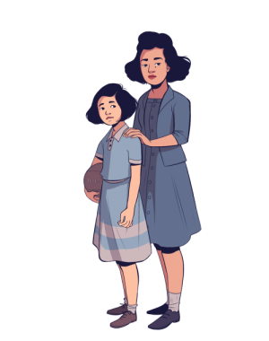 geniusbee:  some character designs for yet another project about Japanese American incarceration!: geniusbee:  some character designs for yet another project about Japanese American incarceration!