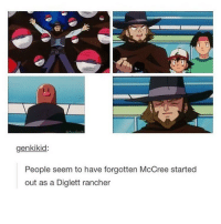 """""""its high noon somewhere in the world"""": genkikid:  People seem to have forgotten McCree started  out as a Diglett rancher """"its high noon somewhere in the world"""""""