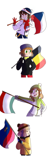 Target, Tumblr, and Blog: geographybasket:  Did someone said: Hetalia gals ready for the Olympics? Ok, that was me. originally, there was just Czech, but suddenly the room opened for 3 more. hope i don't messed up with the uniforms Bonus: Keep reading