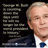 "Funniest Trump Transition Memes: http://abt.cm/2gE55vG  Thanks to Andy Borowitz and American News X for this one: ""George W. Bush  is counting  down the  days until  he will no  longer be the  worst president  in history.""  Andy Borowitz  AMERICAN NEWSX Funniest Trump Transition Memes: http://abt.cm/2gE55vG  Thanks to Andy Borowitz and American News X for this one"