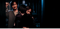 Doctor, Fucking, and Gif: georgelulz:  doctor-glitter:  #THE BEST PART ABOUT THIS GIF IS THAT IT LOOKS LIKE REMUS AND SIRIUS ARE HARRY'S GAY UNCLES AND HARRY'S JUST GOT HOME FROM SOMETHING AND THEY ARE ABOUT TO HAVE SOME TEA AND A NICE CHAT IN THEIR TASTEFULLY FURNISHED HOME  #oh god you know remus would be in charge of the decorating because every time he picks out some curtains and shows them to sirius he's just like I DON'T CARE MOONY JUST GET WHAT YOU WANT and remus is like no sirius we can get the eggshell or the taupe this is a very important decision and sirius is like FUCKING HELL THEY'RE THE SAME FUCKING COLOR AND THEY'RE JUST GOING TO GET DUST AND SHITE ON THEM ANYWAY and remus pouts but ends up buying the taupe because it's warmer and it'll look good with the new rug in the sitting room and sirius just follows him around bed bath and beyond and acts like he doesn't care but when remus isn't looking he throws 5 more packs of curtains in the cart because he knows remus is just going to shred the new ones during his ~time of the month~ and he always gets so embarrassed about having to come back and buy more curtains#remus lupin: domestic goddess#sirius black: terrible househusband who tracks mud all over the floors and puts his boots on the bed but then makes up for it by going down on remus while he's reading
