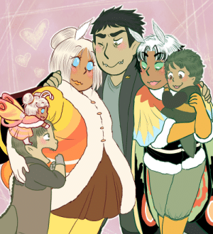 Family, Tumblr, and Blog: georgetheblob-art:  BIG HAPPY FAMILY…………………………….
