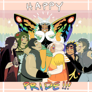 georgetheblob-art: HEY. BE LOUD, BE PROUD…HAPPY PRIDE MONTH! 🌈 it was very funny while I was picking and choosing who I wanted to put into this pic for most variety and just ended up with a handful of the Fambly™ so I just made it a Thing….anyway. Godzilla said gay rights >: 3 : georgetheblob-art: HEY. BE LOUD, BE PROUD…HAPPY PRIDE MONTH! 🌈 it was very funny while I was picking and choosing who I wanted to put into this pic for most variety and just ended up with a handful of the Fambly™ so I just made it a Thing….anyway. Godzilla said gay rights >: 3