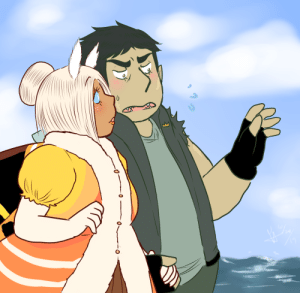 georgetheblob-art:  they're just goin for a stroll by the ocean, chatting together, you know, like ya do.: georgetheblob-art:  they're just goin for a stroll by the ocean, chatting together, you know, like ya do.