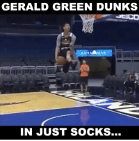 Memes, Best, and Time: GERALD GREEN DUNKS  RAAHAAMAR  IN JUST SOCKS... Gerald Green Dunkin In Socks🔥😨 Is KD the best player of all time? 🤔 Comment below! 👇 - Follow @Sportzmixes For More! 🏀 - Via: @evolvevfx