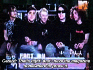 iamahugslut:  Frank: Out of the five things you need to know about us this is the fourth. : Gerard: That  And have the magazine iamahugslut:  Frank: Out of the five things you need to know about us this is the fourth.