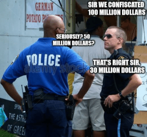 So 10 million right? via /r/funny https://ift.tt/2rjhLOW: GERMAIN  POTATOP  SIR WE CONFISCATED  100 MILLION DOLLARS  SERIOUSIY? 50  MILLION DOLLARS  YOLICETHATS RIGHTSR  30 MILLION DOLLARS  SPON  THE  OF GREE So 10 million right? via /r/funny https://ift.tt/2rjhLOW