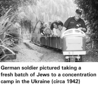 Fresh, Ukraine, and Jews: German soldier pictured taking a  fresh batch of Jews to a concentration  camp in the Ukraine (circa 1942) <p>They&rsquo;re in a 🅱️etter place</p>