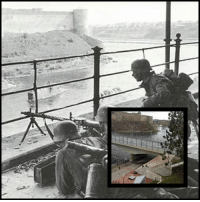 Memes, Soldiers, and Army: German soldiers defending the Estonian bank of the Narva River, with the fortress of Ivangorod on the opposite side. Estonia, 1941. ------------------------ ww2 worldwar2 war history army travel travelgram travelingram travelstagram wanderlust photography instatravel travelphotography nowandthen battle soldiers follow picoftheday trip like instagood military explore estonia (Thanks to @ottvainola)