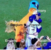 Belgium, England, and France: Germanv  Belgium  France  England  Spain The Schlieffen Plan (1914) colorised