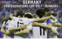 Fifa, Memes, and Germany: GERMANY  CONFEDERATIONS CUP 2017 WINNERS  RENA  ERN Congratulation @dfb_team on winning the FIFA Confederations Cup 2017 🔝🎉👑