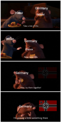 """<p>Format spotted here. Great investment potential. Buy while prices are low! via /r/MemeEconomy <a href=""""https://ift.tt/2Isc7Ex"""">https://ift.tt/2Isc7Ex</a></p>: Germany  Hitler  Poland  Take a bite of this  Hitler  ermany  ance  Now taste this  Germany  Now, try them together!  ermany  I'm getting a little something there <p>Format spotted here. Great investment potential. Buy while prices are low! via /r/MemeEconomy <a href=""""https://ift.tt/2Isc7Ex"""">https://ift.tt/2Isc7Ex</a></p>"""