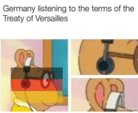 Germany, Net, and Versailles: Germany listening to the terms of the  Treaty of Versailles  mematic net Accurate Colourised Photo