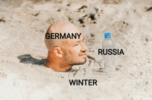 It's so cold I'm freezing.: GERMANY .  RUSSIA  WINTER It's so cold I'm freezing.