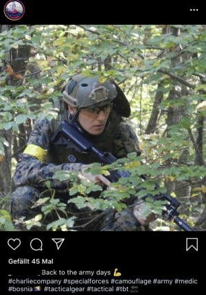 Get a load of this guy's caption. Was never in the military and is still boot: Get a load of this guy's caption. Was never in the military and is still boot