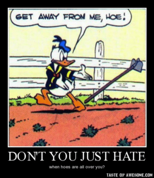 don't you just hatehttp://omg-humor.tumblr.com: GET AWAY FROM ME, HOE!  DONT YOU JUST HATE  when hoes are all over you?  TASTE OF AWESOME.COM don't you just hatehttp://omg-humor.tumblr.com