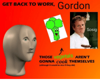 <blockquote><p>Hope you like</p></blockquote><p>I do :)</p>: GET BACK TO WORK, Gordon  Sosig  vegetals  AREN'T  GONNA cook THEMSELVES  although It would be nice if they did) <blockquote><p>Hope you like</p></blockquote><p>I do :)</p>