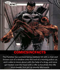 Memes, Stocks, and Batman Superman: GET ME A  MEDIC!  NOW!  COMICSIN CFACTS  The Punisher has survived being stabbed, hit with a chair and  thrown out of a window onto the roof of a moving police car,  and is able to move about with the help of a drug, andonce  got beaten over the head with a rifle so forcefully the rifle  stock breaks, but got up shortly afterwards. Imagine if he had superpowers. Please Turn On Your Post Notifications For My Account😜👍! - - - - - - - - - - - - - - - - - - - - - - - - Batman Superman DCEU DCComics DeadPool DCUniverse Marvel Flash MarvelComics MCU MarvelUniverse Cosplay DeathStroke JusticeLeague StarWars Spiderman Ironman Batman Logan TheJoker Like4Like L4L WonderWoman DoctorStrange Flash JusticeLeague WonderWoman Hulk Disney CW DarthVader Tonystark Deadshot Wolverine