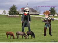 Target, Tumblr, and Blog: get outta my town buckaroo  no youre:  horse farm AU