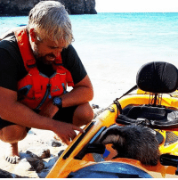 Animals, Memes, and Twitter: Get sett for a sea rescue with a difference. Tom Wildblood was kayaking off the coast of Cornwall when he spotted a badger cub plunge 90 feet (27 metres) off a cliff and into the sea. Tap the link in our bio ☝🏽 to read how he braved at least one badger-bite to pull the animal to safety, and swipe ⬅️ to see more photos of the rescue. The (unnamed) cub is doing fine. 👌🏽 📷: @fieldgrazer-Twitter 📷: @fieldgrazer-Twitter 📷: Koru Kayaking instagood animals kayaking animallover badgers bbcnews