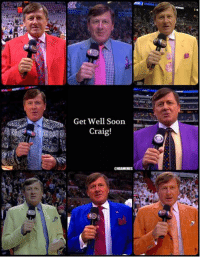 Nba, Craig Sager, and Get Well Soon: Get Well Soon  Craig!  ONBAMEMES It's just NOT the same without Craig Sager out there! #GetWellSoon Credit: Varun Kapila