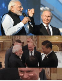 Girl, Putin, and Indian: Get you a girl that looks at you like Putin looks at Indian Prime Minister