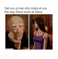 Seeing Wonder Woman this Wed at a fan screening and the hype is reaching fever pitch 😌😌😌 [Like•Follow•Listen•@TheNiceGuyCast]: Get you a man who looks at you  the way Steve looks at Diana  @The NiceGuyCast Seeing Wonder Woman this Wed at a fan screening and the hype is reaching fever pitch 😌😌😌 [Like•Follow•Listen•@TheNiceGuyCast]