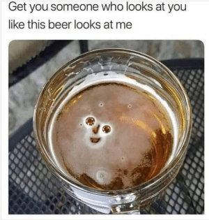 Hello darkness my old friend: Get you someone who looks at you  like this beer looks at me Hello darkness my old friend