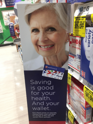 And y'all said Jill Stein didn't make a difference. wrong!: Get your  flu shot  with card  BUY ONE GET  SECOND ONE AT  50%OFF  Rite Bu  BANDAI 능  OF FIRST AID  UZ  AD  wellness+  Plenti.  Saving  is good  for your  health  And your  wallet.  Earn Plenti points on specially  marked items, then use them  for savings at Rite Aid and  certain Plenti partners. And y'all said Jill Stein didn't make a difference. wrong!