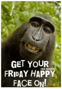 Yes!: GET YOUR  FREE SPIRITED  FRIDAY HAPPY  FACE ON! Yes!