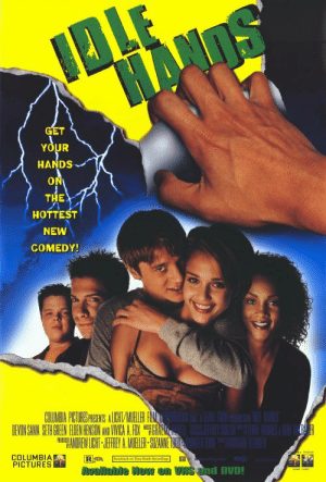 Halloween, Columbia, and Pictures: GET  YOUR  HANDS  ON  THE  HOTTEST  NEW  COMEDY!  DEVONSAWA SENH GREEN ALDEN HENSON ANO VIVICA AFOX WEFOR  COLUMBIA  PICTURES  d DVD! 31 Days Of Halloween - Day 5: Idle Hands