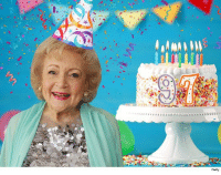Birthday, Memes, and Party: Getly Happy 97th Betty! tmz bettywhite birthday cake legend party hollywood