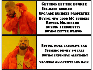 Cars, Gta V, and Money: GETTING BETTER BUNKER  UPGRADE BUNKER  UPGRADE BUSINESS PROPERTIES  BUYING NEW GOOD MC BUSINESS  BUYING NIGHTCLUB  BUYING TERROBYTES  BUYING BETTER WEAPON  BUYING MORE EXPENSIVE CAR  SPENDING MONEY ON CARS  BUYING EXPENSIVE APARTMENT  SHOPPING ON OUTFITS AND MASK Some casual players and new players on GTA V O