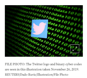 Getting cyber up in this b [a Reuters article about Twitter banning a profile]: Getting cyber up in this b [a Reuters article about Twitter banning a profile]