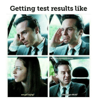 Memes, Sherlock Holmes, and Martin Freeman: Getting test results like  kismy division  what u think?  are you crying? This is pretty accurate 😂 - - - - - ben cumberbatch benedictcumberbatch martin freeman martinfreeman jim moriarty jimmoriarty andrew scott andrewscott mark gatiss markgatiss sherlock holmes sherlockholmes williamsherlockscottholmes john watson marywatson mollyhooper anderson lestrade sallydonovan (credit tagged)